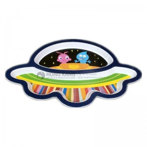 Melamine Children Aircraft Plate