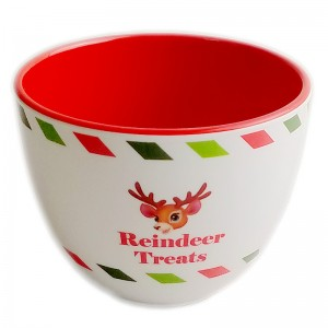 Melamine Christmas Treat Bowl