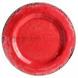 8inch melamine vintage crack plate