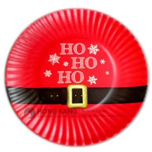 Melamine Santa Christmas Plate