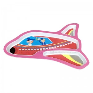 Melamine Children Airplane Plate