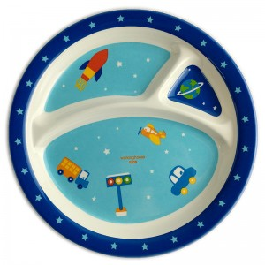 8.5inch Melamine Kids Divided Meal Plate