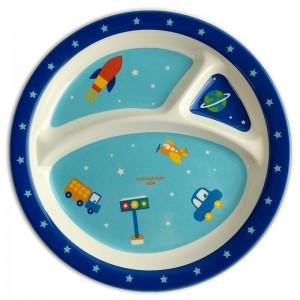 Melamine round divided plate