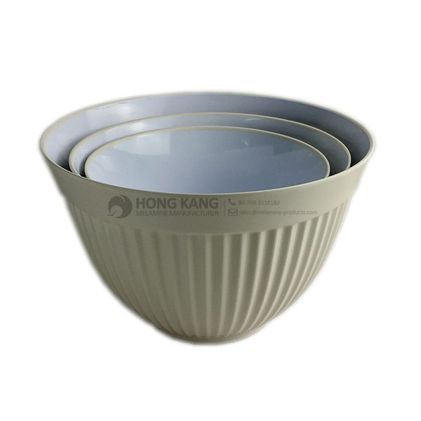 melamine two tone bowl